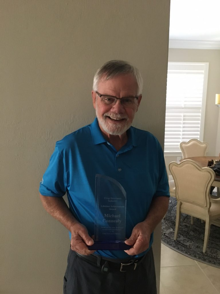 Mike Connealy Present With Crop Insurance Lifetime Achievement Award